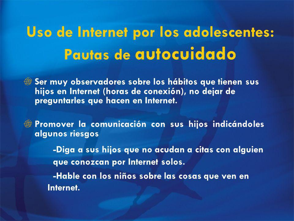 Uso de Internet por los adolescentes: Pautas de autocuidado
