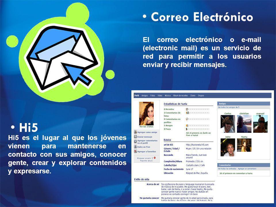 Correo Electrónico El correo electrónico o e-mail (electronic mail) es un servicio de red para permitir a los usuarios enviar y recibir mensajes.