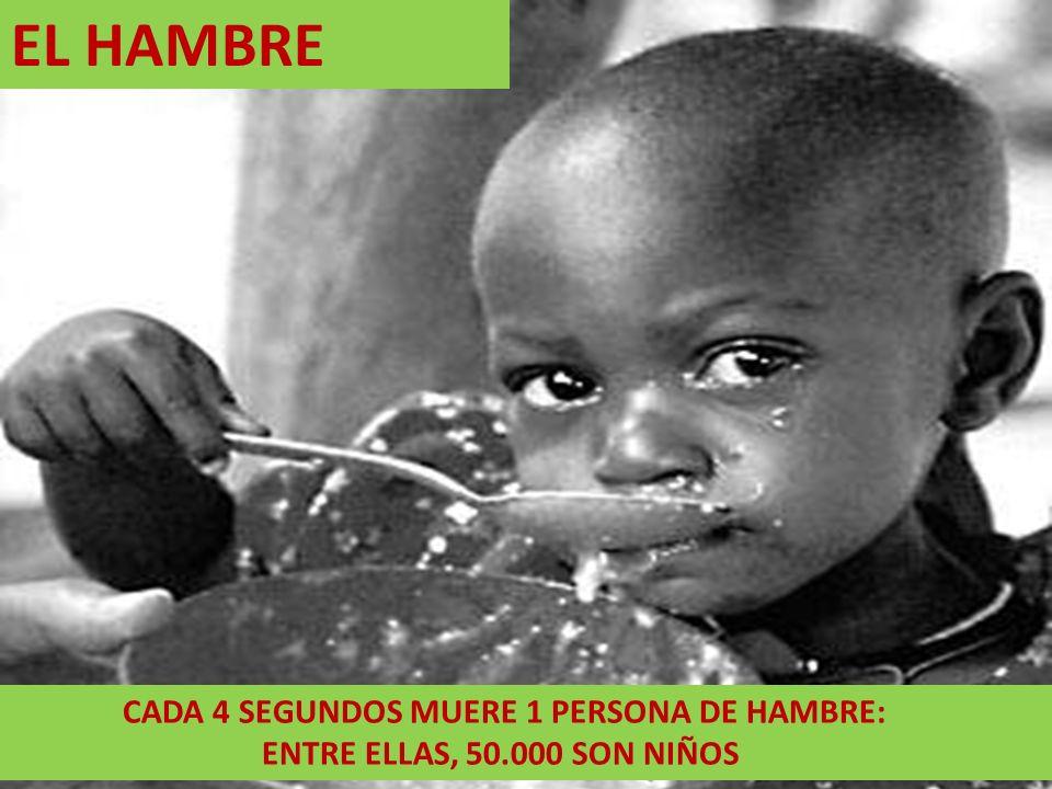 EL HAMBRE ENTRE ELLAS, 50.000 SON NIÑOS