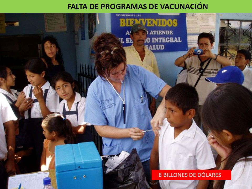 FALTA DE PROGRAMAS DE VACUNACIÓN