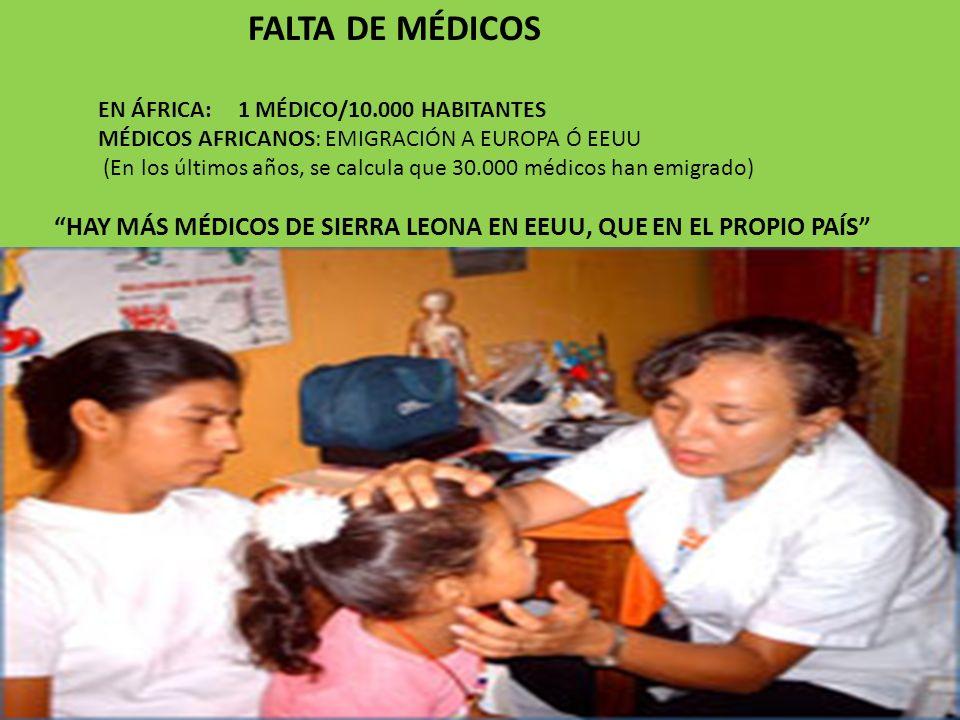 FALTA DE MÉDICOS EN ÁFRICA: 1 MÉDICO/10.000 HABITANTES