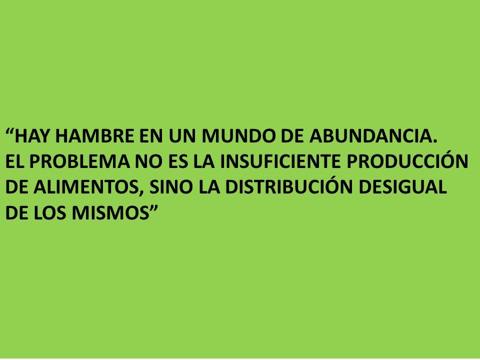 HAY HAMBRE EN UN MUNDO DE ABUNDANCIA.
