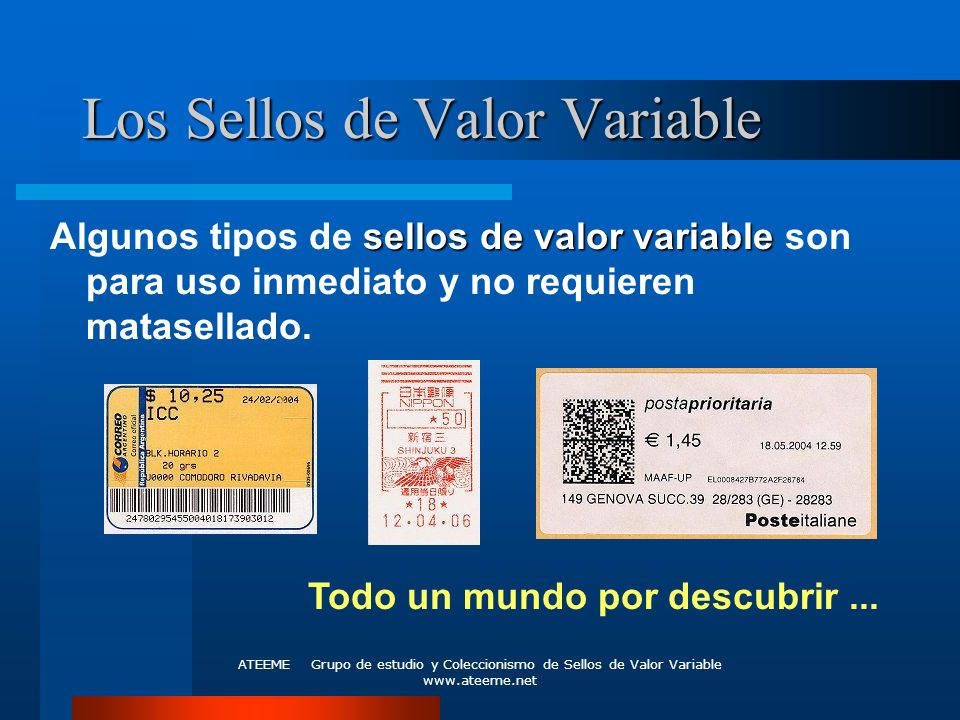 Los Sellos de Valor Variable