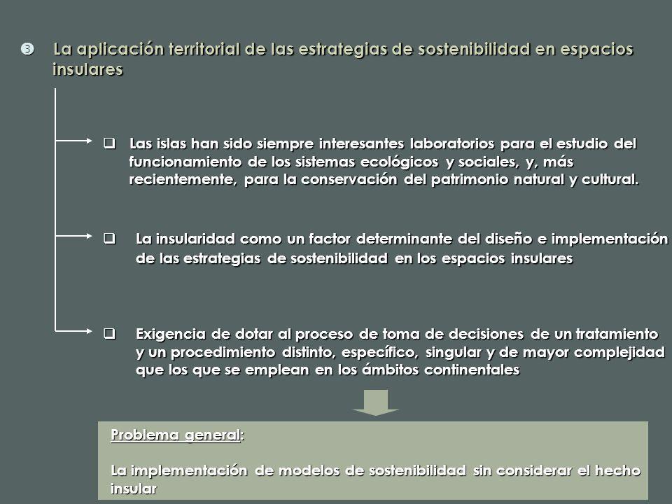  La aplicación territorial de las estrategias de sostenibilidad en espacios insulares