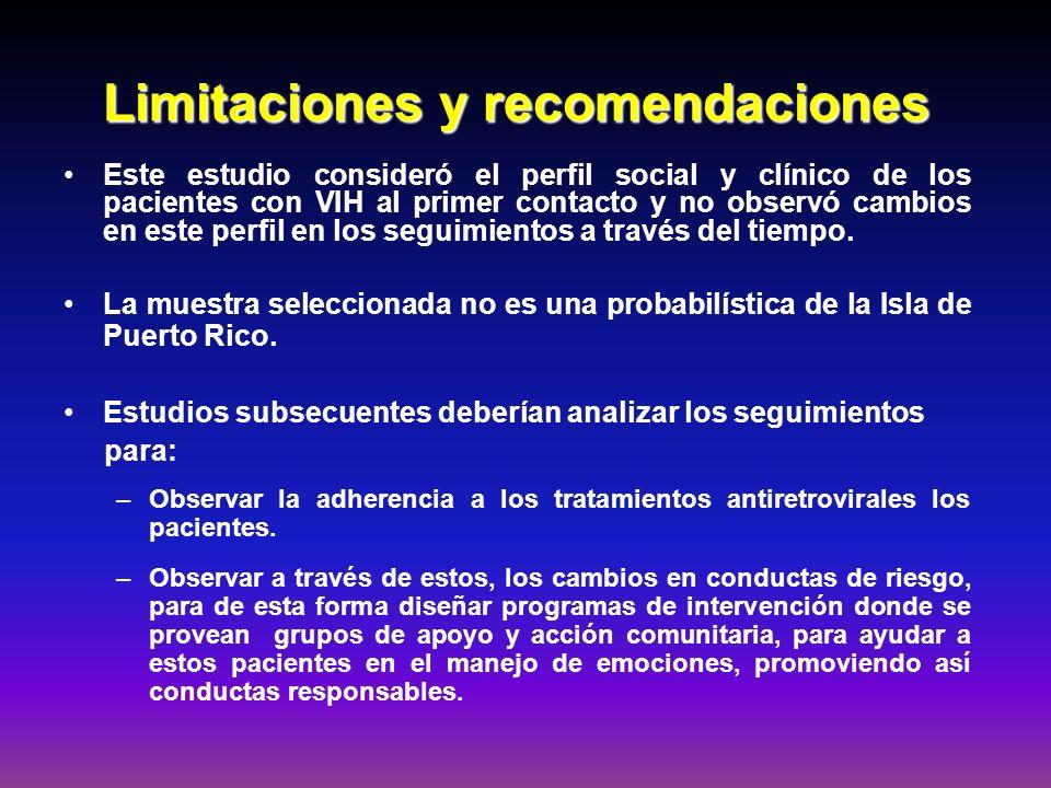 Limitaciones y recomendaciones