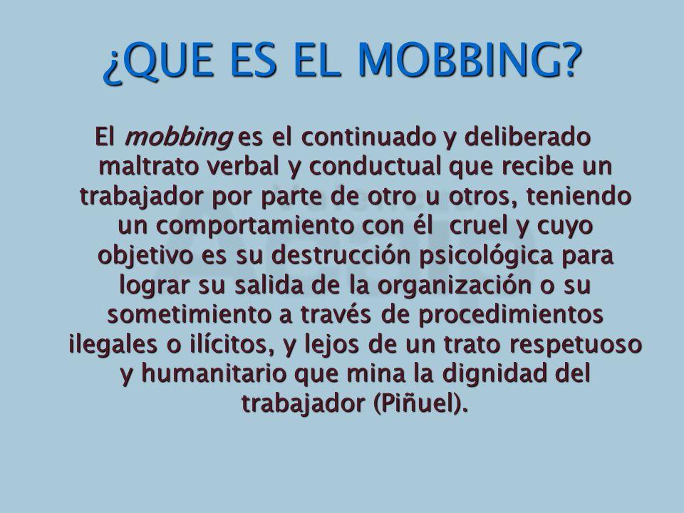 ¿QUE ES EL MOBBING