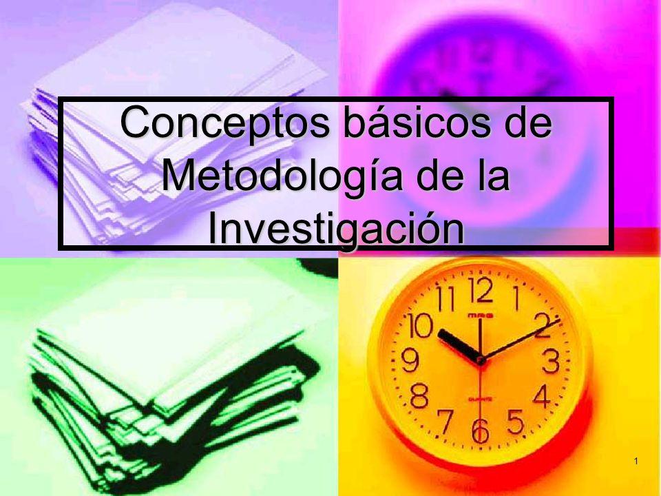 Conceptos básicos de Metodología de la Investigación