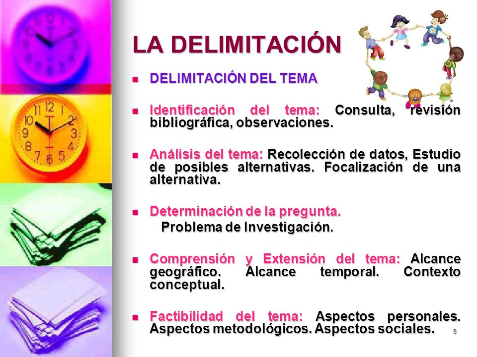 LA DELIMITACIÓN DELIMITACIÓN DEL TEMA