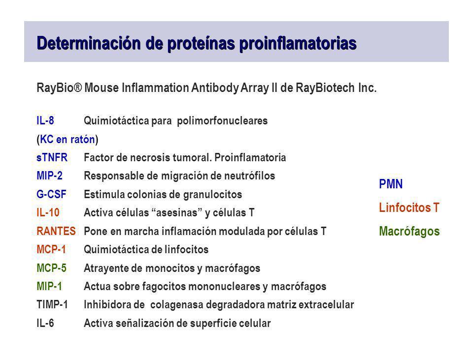 Determinación de proteínas proinflamatorias