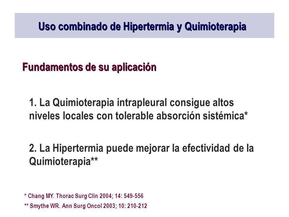 Uso combinado de Hipertermia y Quimioterapia