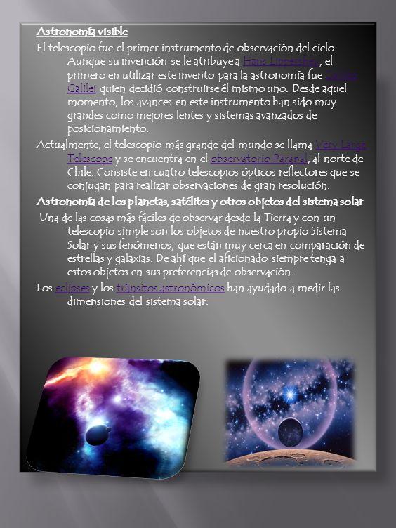 Astronomía visible