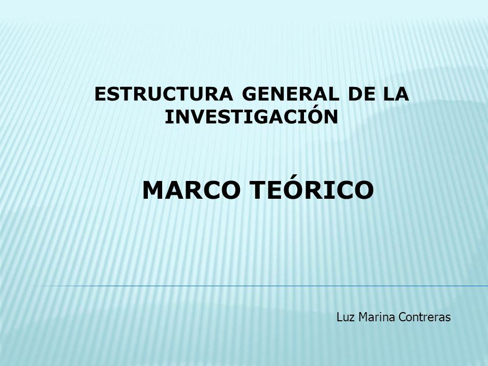 ESTRUCTURA GENERAL DE LA INVESTIGACIÓN