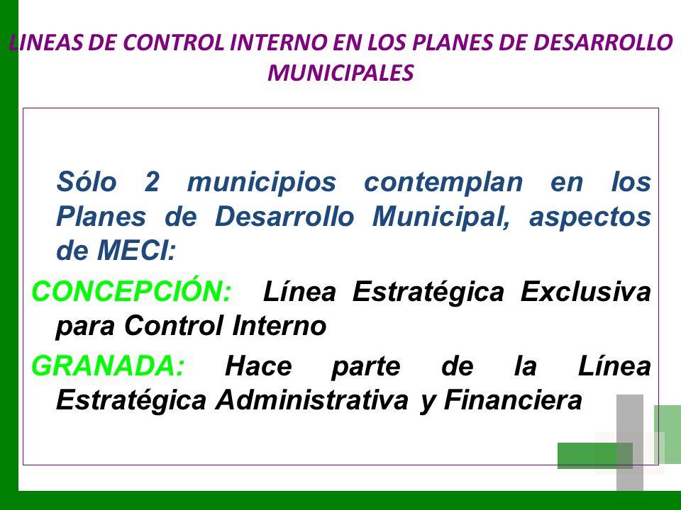 LINEAS DE CONTROL INTERNO EN LOS PLANES DE DESARROLLO MUNICIPALES