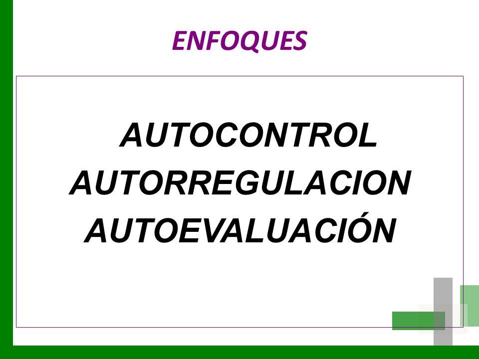 AUTORREGULACION AUTOEVALUACIÓN
