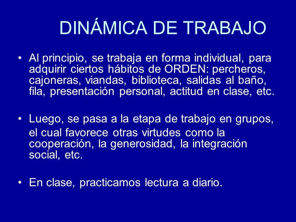DINÁMICA DE TRABAJO