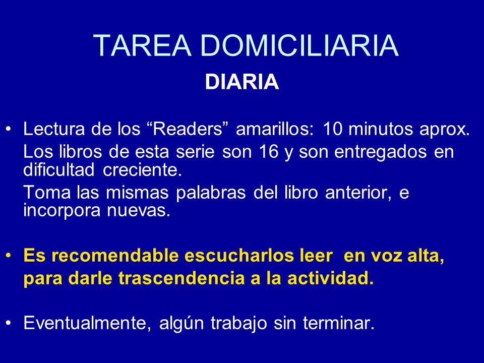 TAREA DOMICILIARIA DIARIA