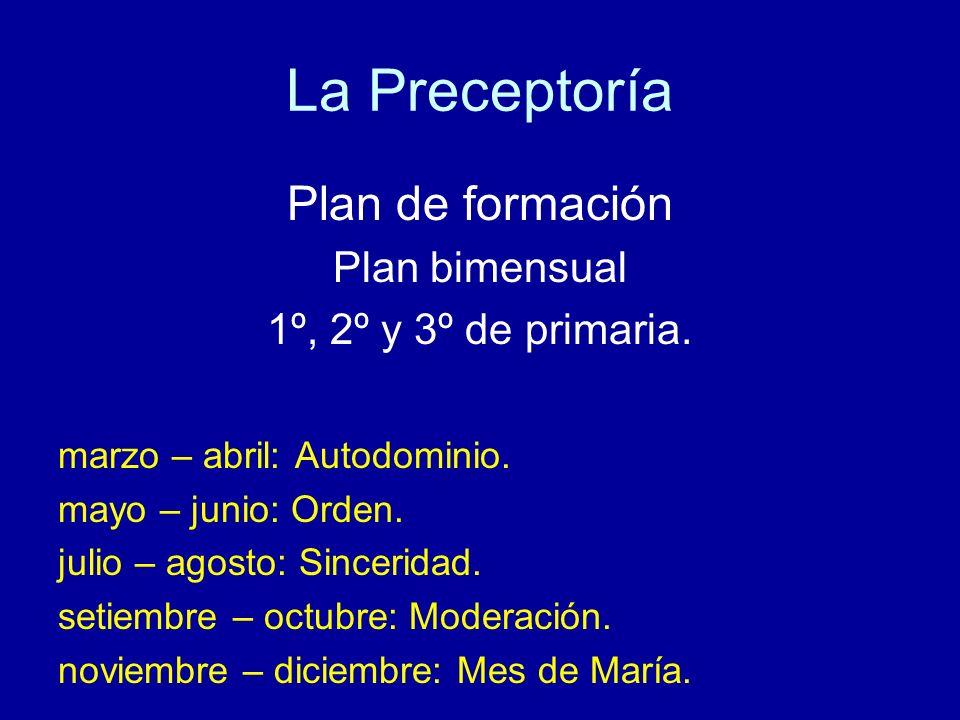 La Preceptoría Plan de formación Plan bimensual