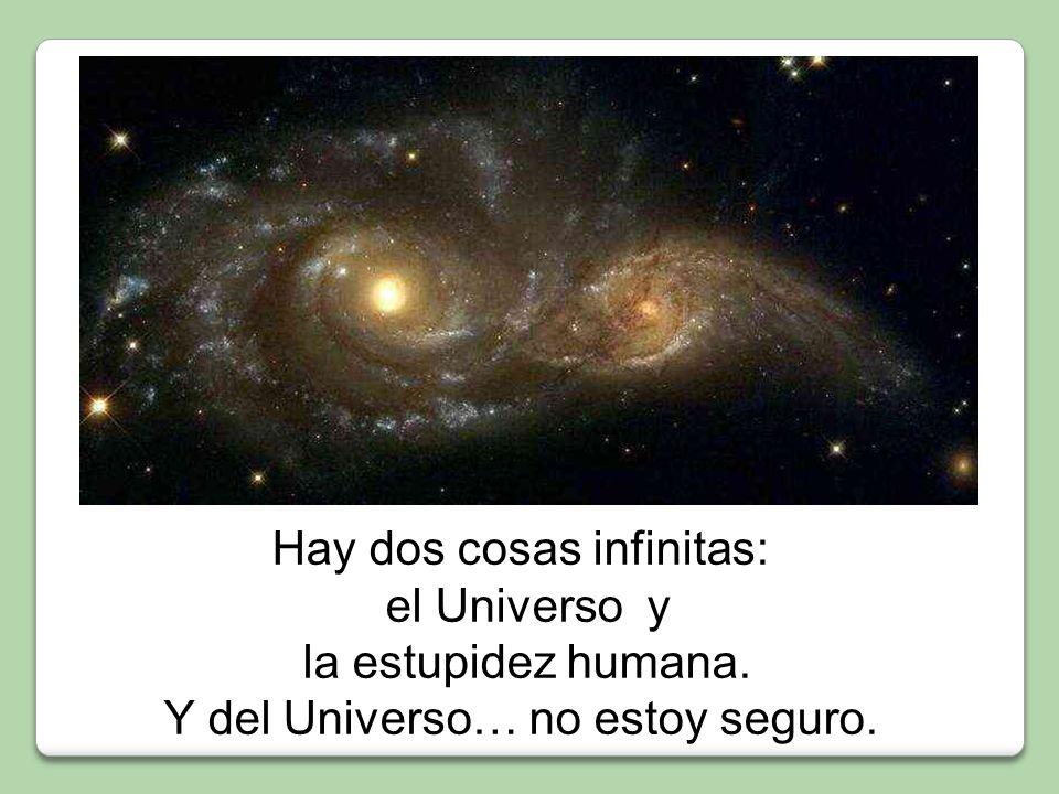 Hay dos cosas infinitas: el Universo y la estupidez humana.