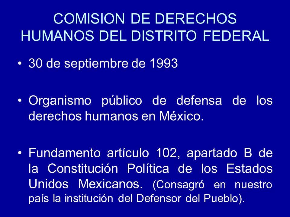 COMISION DE DERECHOS HUMANOS DEL DISTRITO FEDERAL