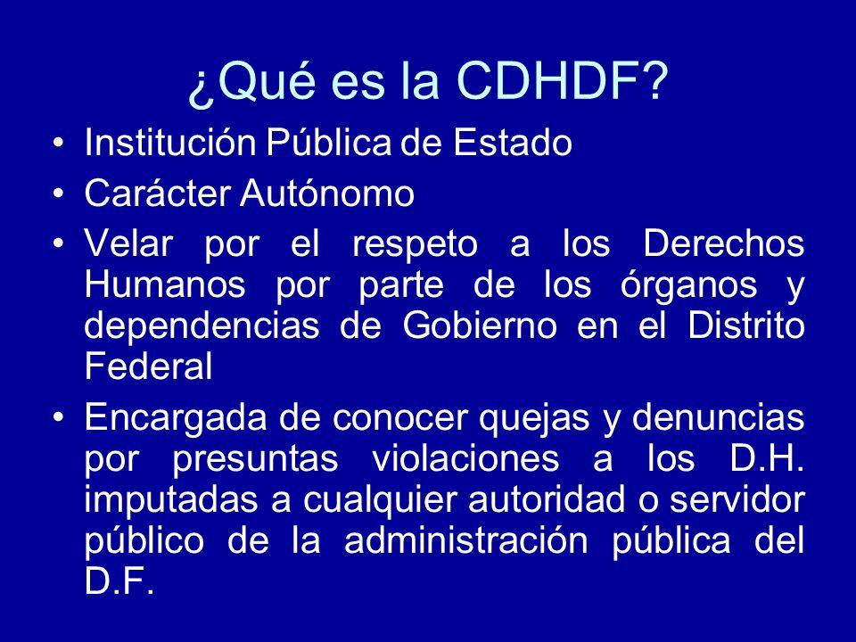 ¿Qué es la CDHDF Institución Pública de Estado Carácter Autónomo