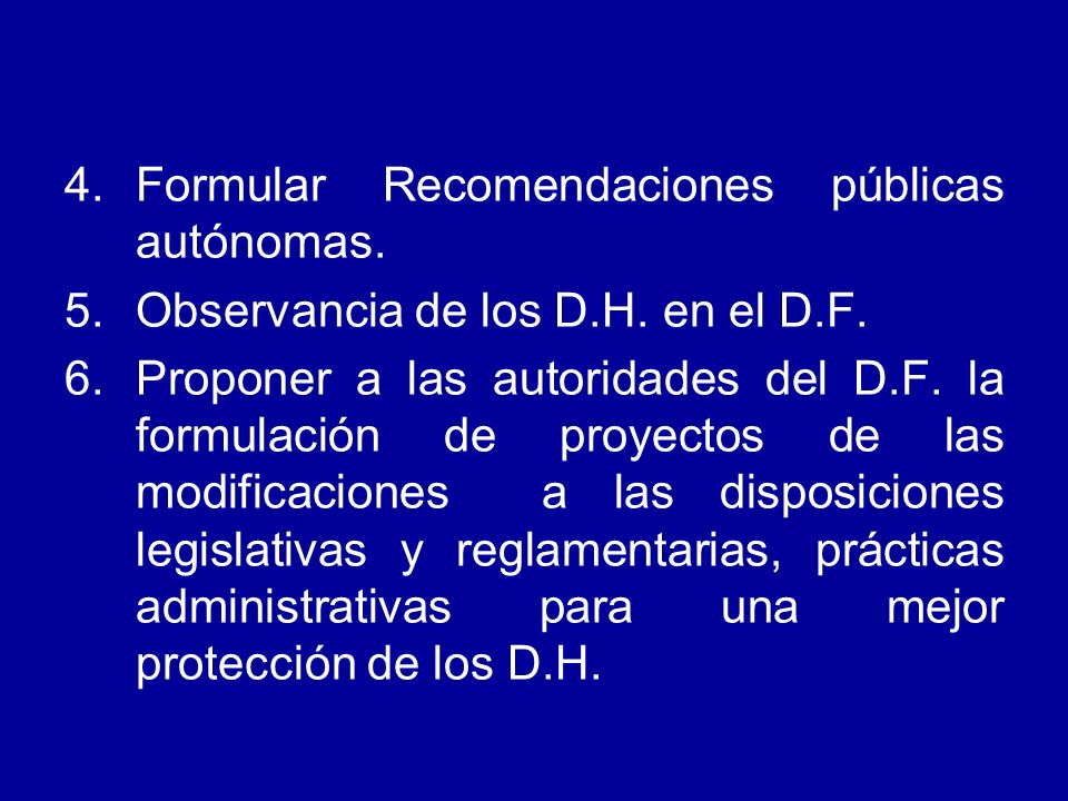 Formular Recomendaciones públicas autónomas.