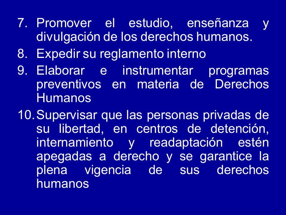 Promover el estudio, enseñanza y divulgación de los derechos humanos.