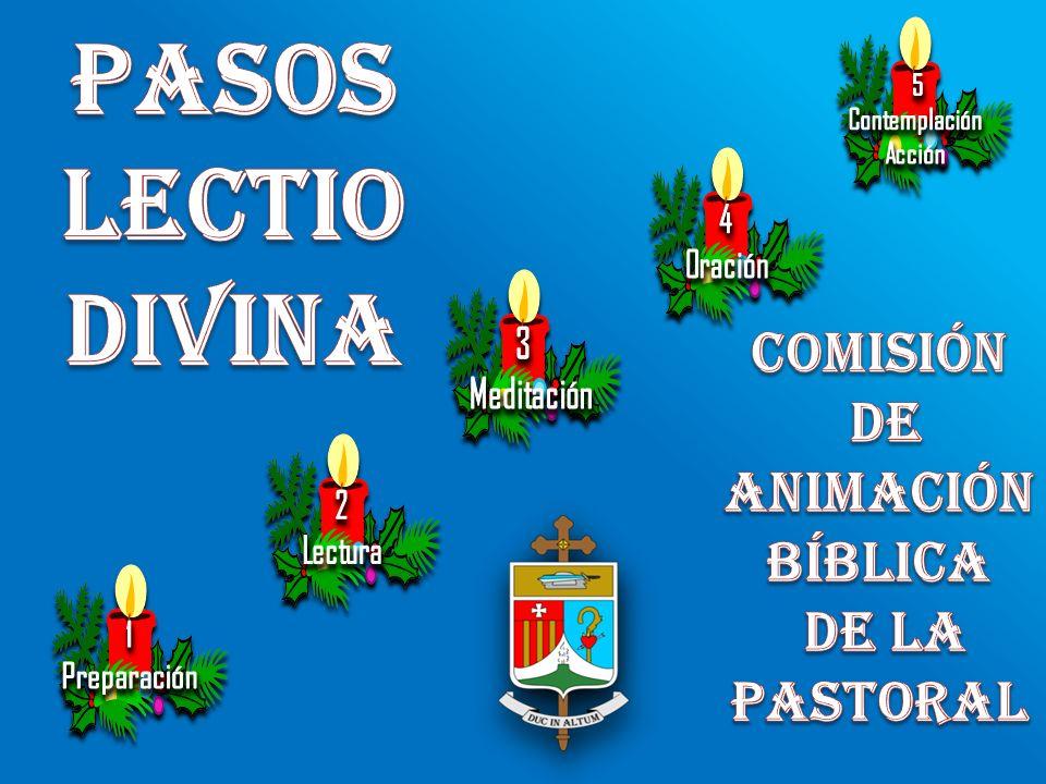 Pasos Lectio Divina Comisión de animación bíblica de la pastoral 5