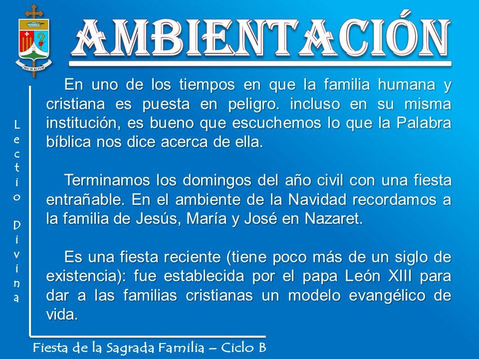 Fiesta de la Sagrada Familia – Ciclo B