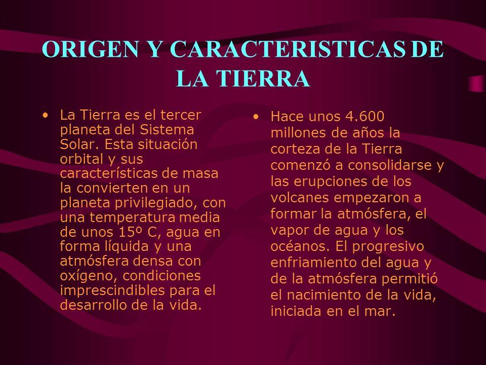 ORIGEN Y CARACTERISTICAS DE LA TIERRA