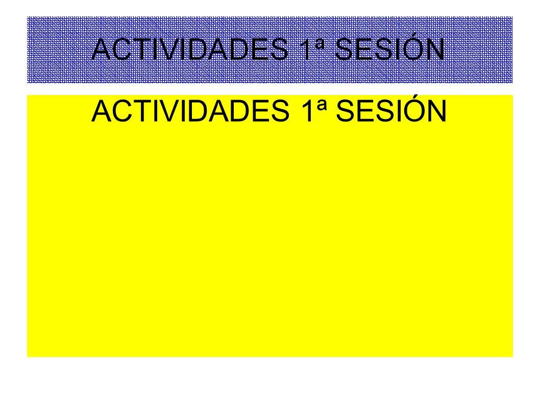 ACTIVIDADES 1ª SESIÓN