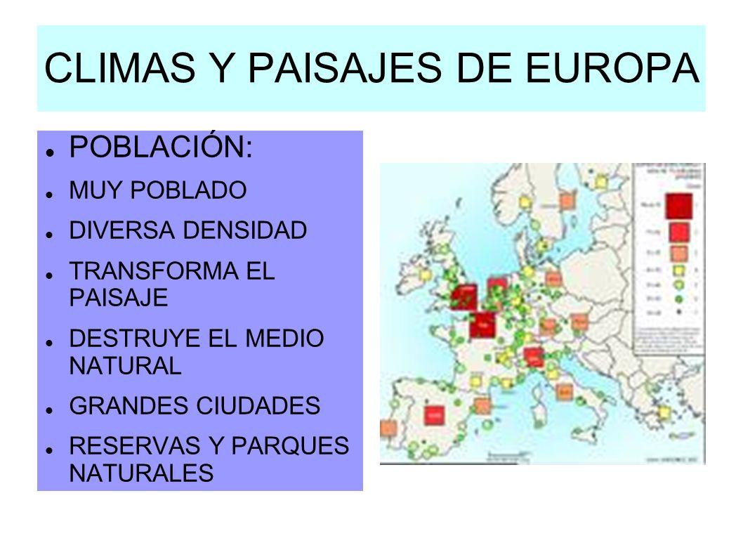 CLIMAS Y PAISAJES DE EUROPA