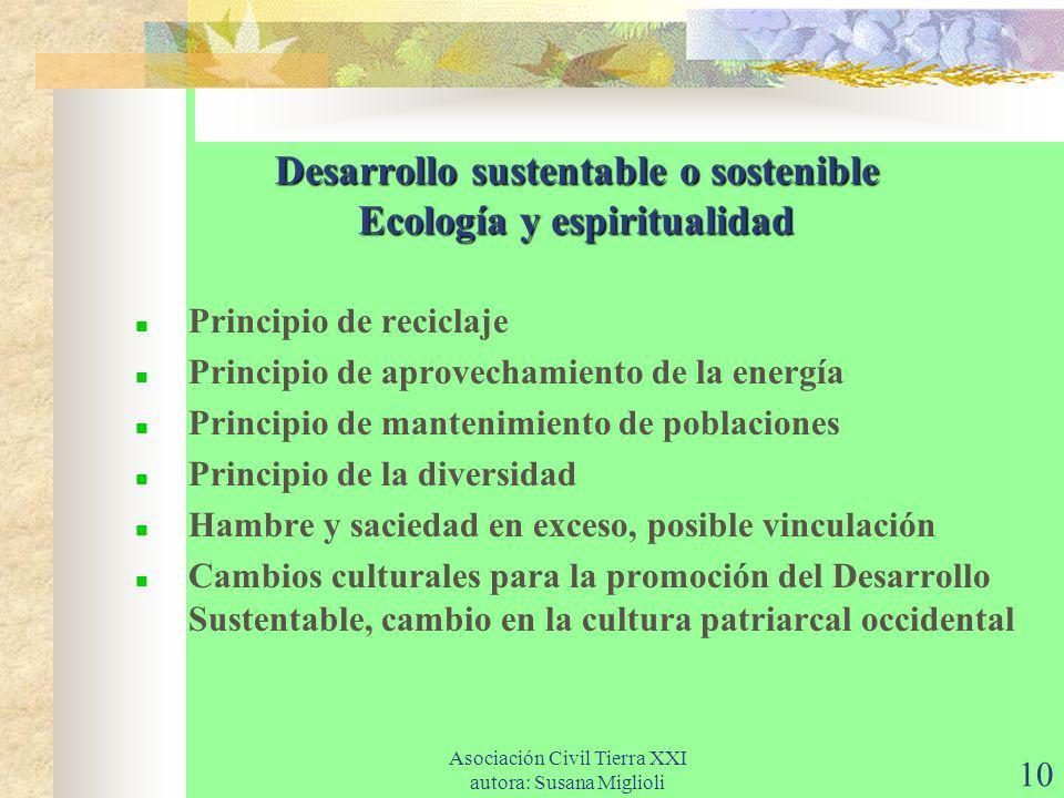 Desarrollo sustentable o sostenible Ecología y espiritualidad