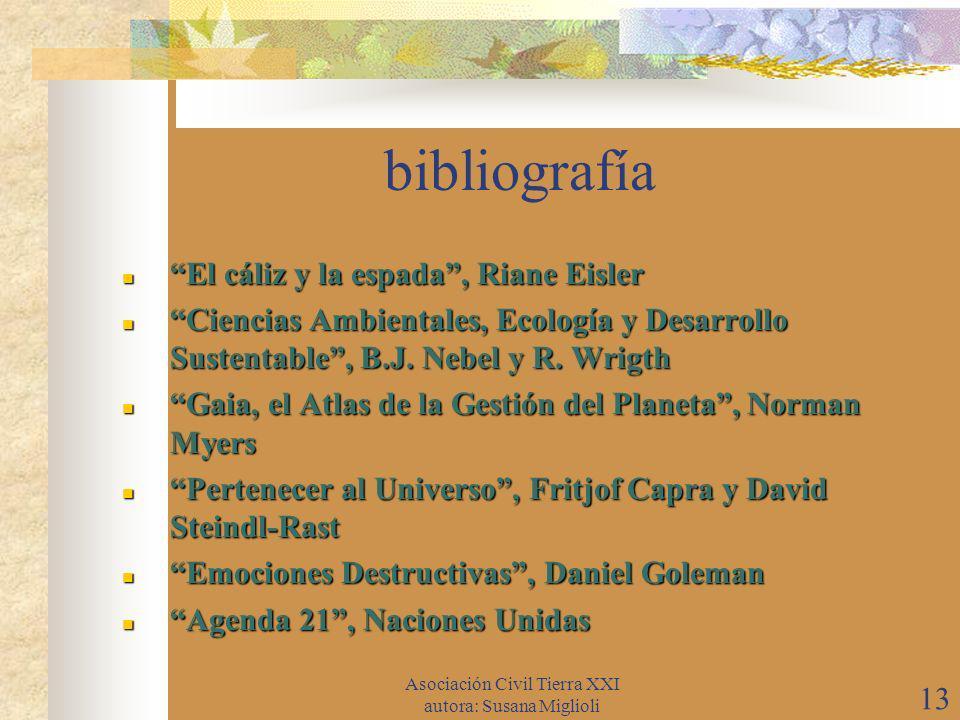 Asociación Civil Tierra XXI autora: Susana Miglioli