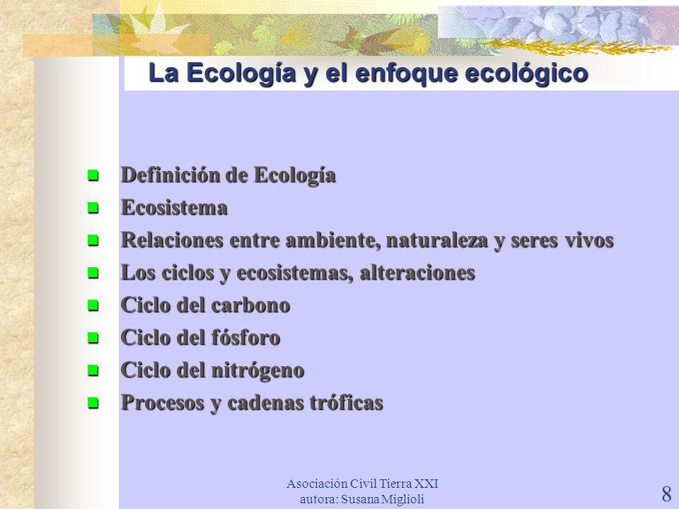 La Ecología y el enfoque ecológico
