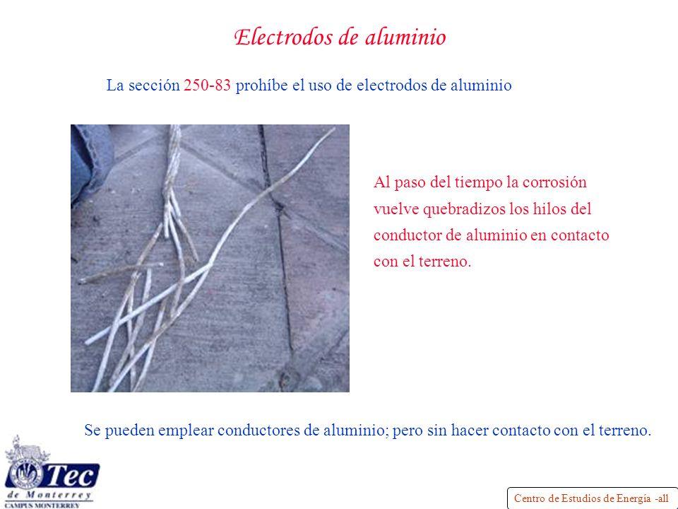Electrodos de aluminio