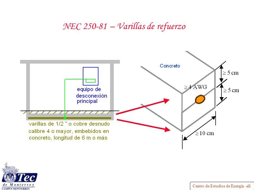 NEC 250-81 – Varillas de refuerzo