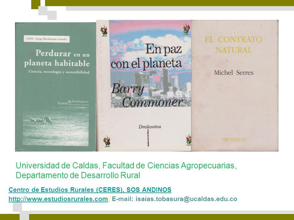 Universidad de Caldas, Facultad de Ciencias Agropecuarias, Departamento de Desarrollo Rural