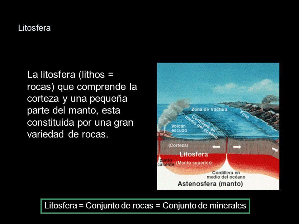 Litosfera = Conjunto de rocas = Conjunto de minerales