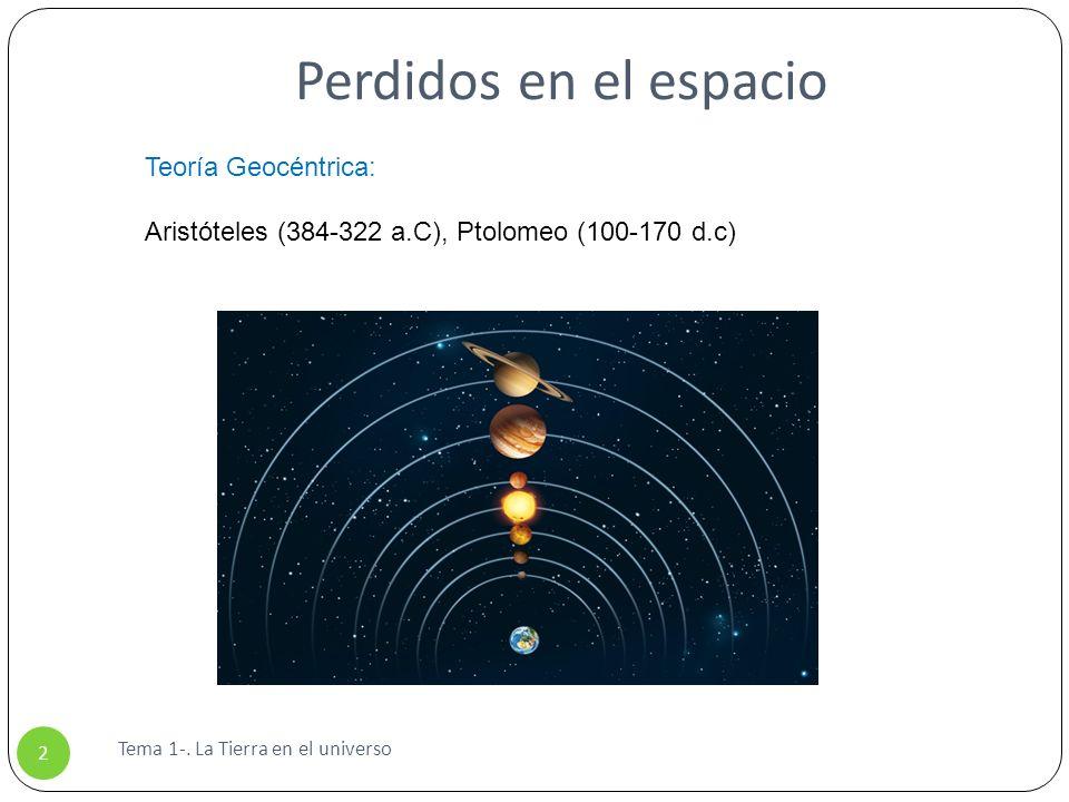 Perdidos en el espacio Teoría Geocéntrica: