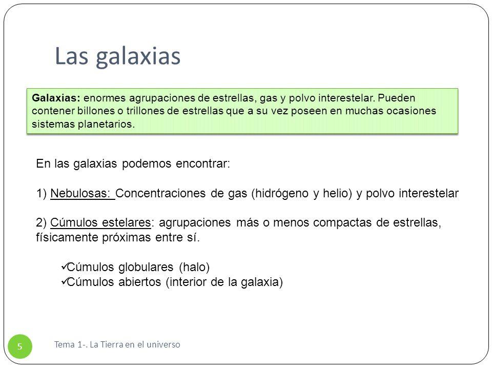 Las galaxias En las galaxias podemos encontrar: