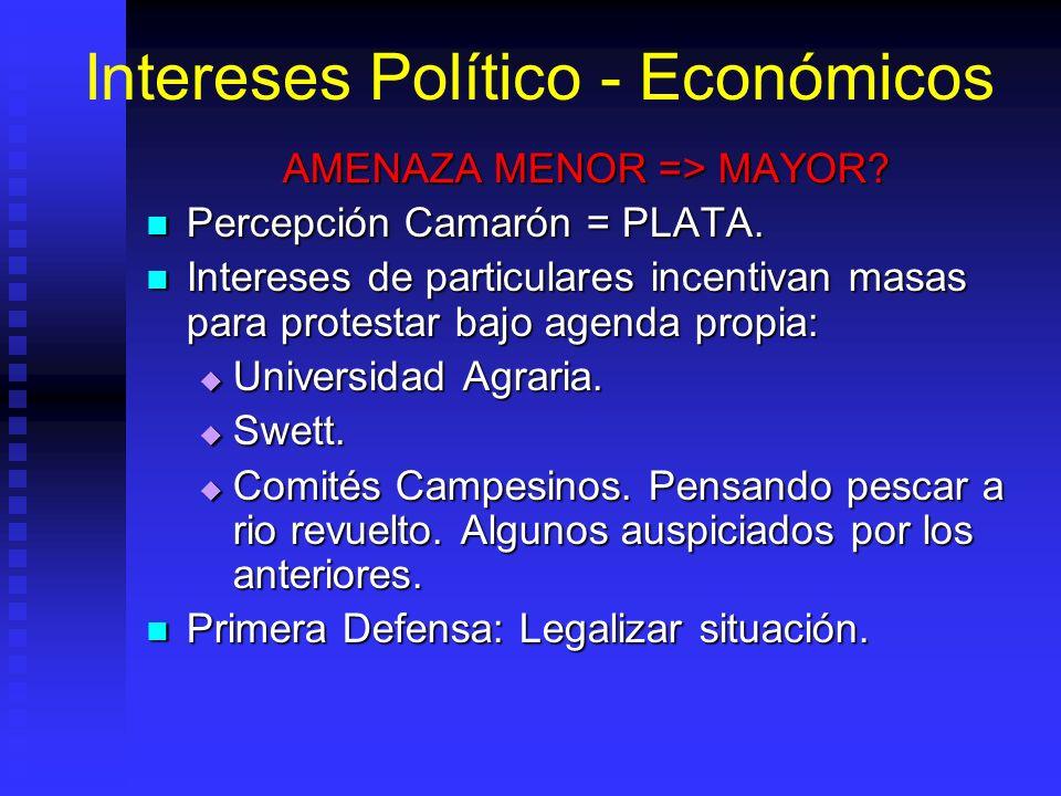 Intereses Político - Económicos