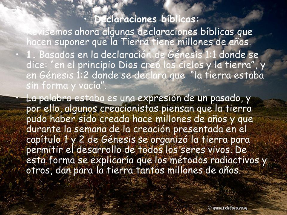Declaraciones bíblicas: