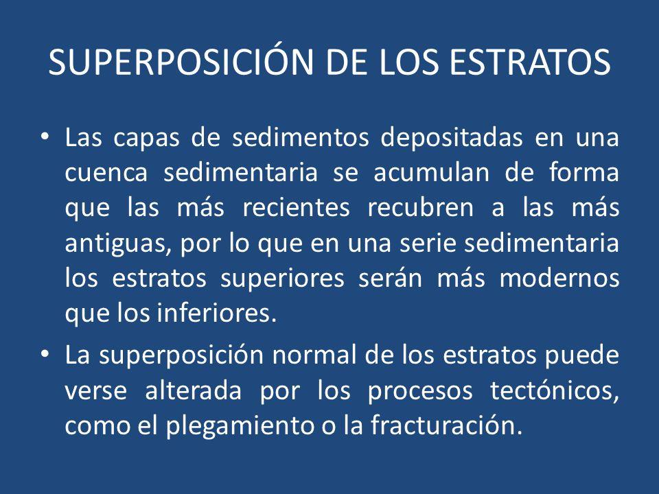 SUPERPOSICIÓN DE LOS ESTRATOS