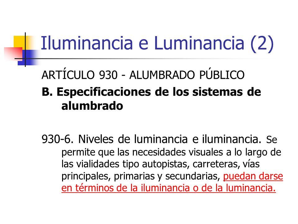 Iluminancia e Luminancia (2)