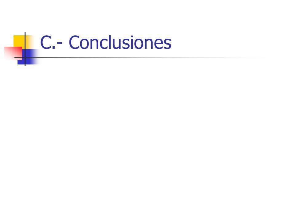 C.- Conclusiones