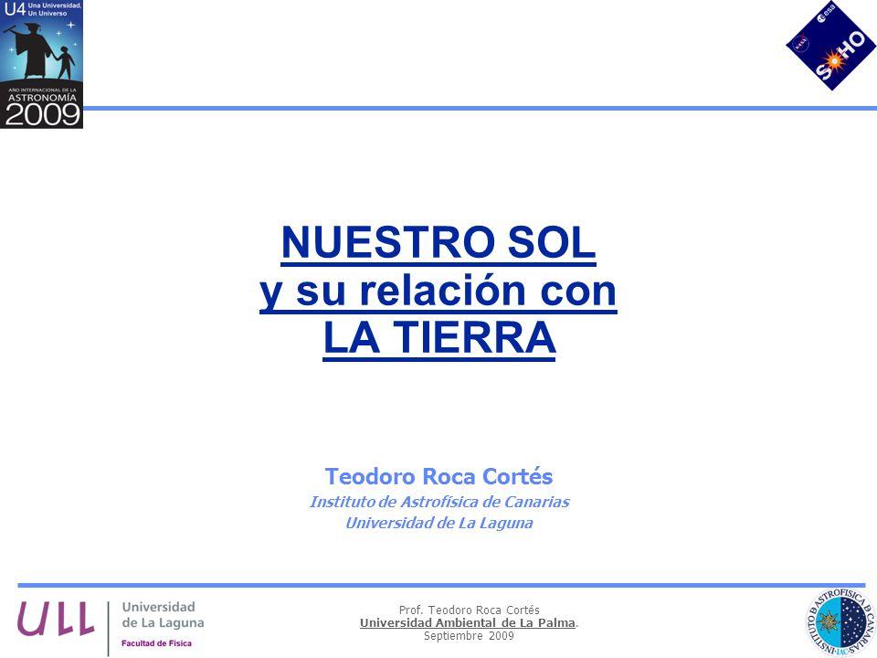 NUESTRO SOL y su relación con LA TIERRA
