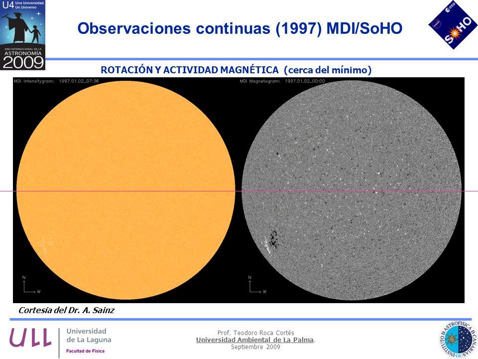 Observaciones continuas (1997) MDI/SoHO