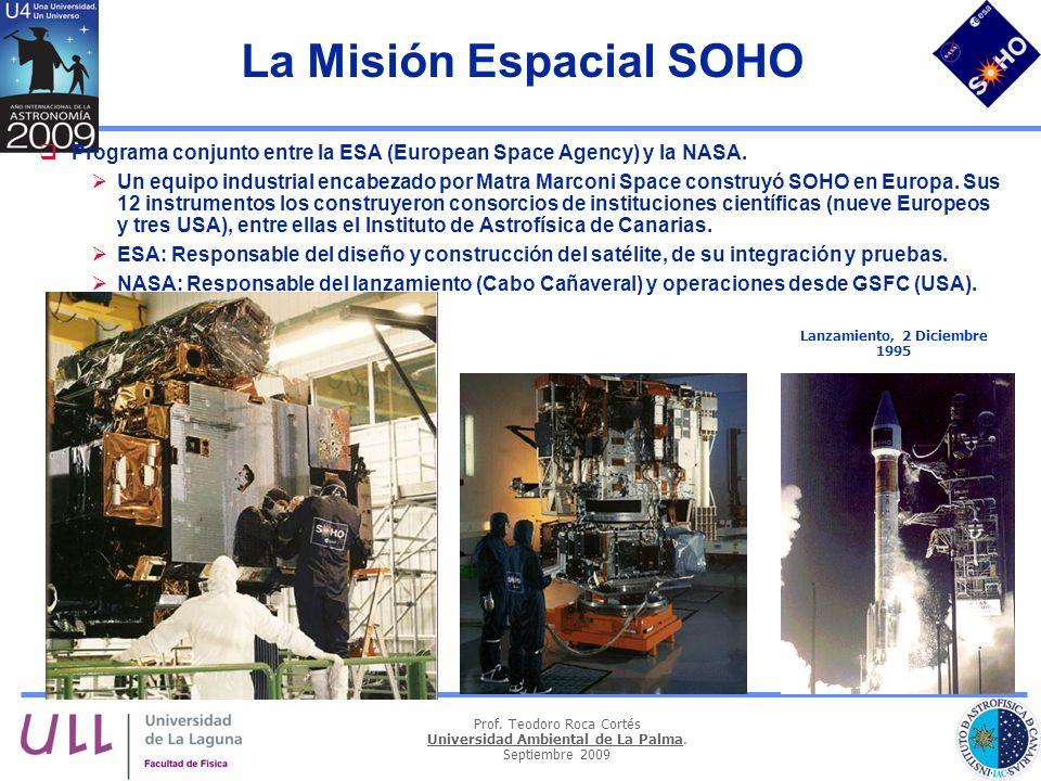 La Misión Espacial SOHO