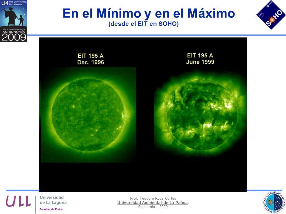 En el Mínimo y en el Máximo (desde el EIT en SOHO)