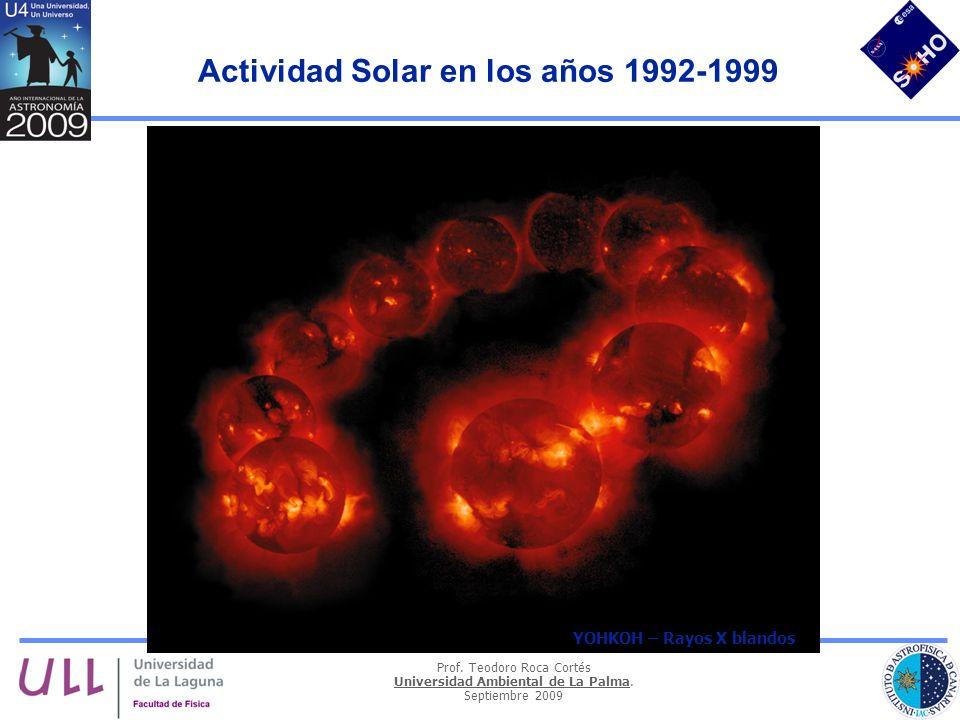 Actividad Solar en los años 1992-1999